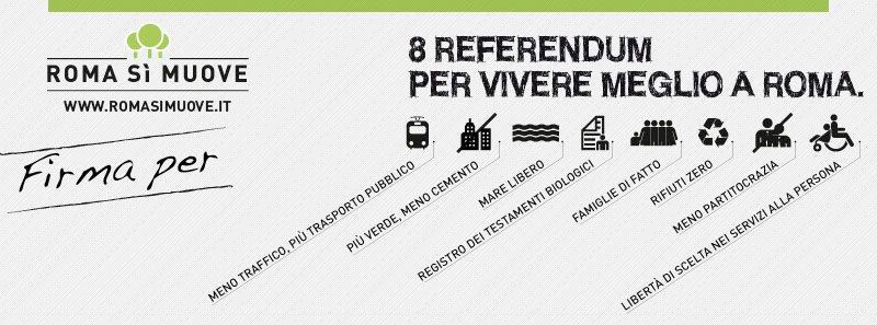 Roma Sì Muove - 8 Referendum per migliorare la vita a Roma