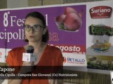 8° Festival della cipolla - Intervista a Barbara Capone, Campora San Giovanni (Cs)