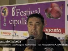 8° Festival della cipolla - Intervista ad Antonio Isabella - Campora san Giovanni, Amantea (Cs).  Agosto 2019
