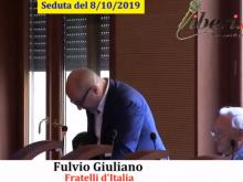 Fulvio Giuliano (Fratelli d'Italia) - Seduta del Consiglio Municipale Roma VII dell'8/10/2019