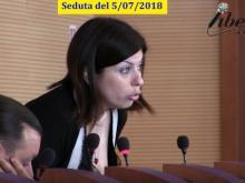 Maria Cristina Ariano (M5S) - Seduta del Consiglio Municipale Roma VII del 5/07/2018