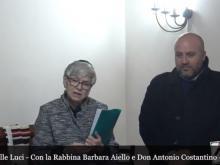 La Rabbina Barbara Aiello e Don Antonio Costantino - Celebrazione Hanukah a Serrastretta (Cz) 28/12/2019