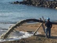 MARE D'INVERNO - Gli effetti dell'erosione sulla costa di Ostia