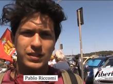 Pablo Riccomi (Libera di Ostia ) - SPIAGGE LIBERE LAVORO PUBBLICO - Ostia 19 luglio 2020
