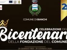 Celebrazione del Bicentenario della fondazione del Comune di Bianchi
