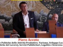 Piero Accoto, Assessore alle Politiche delle Attività Produttive, Turismo, Sviluppo Locale, (Politiche del Lavoro), Servizi Pubblicitari, Legalità e Sicurezza