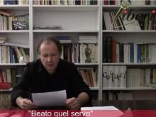 """""""Beato quel servo"""" - Intervento di Giancarlo Calciolari"""