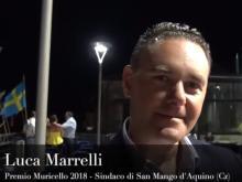 Luca Marrelli, Sindaco di San Mango d'Aquino (Cz) - Premio Muricello 2018