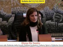 Elena De Santis - Seduta del Consiglio Municipale Roma VII del 12/12/2019