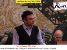 Salvatore Basile - Assessore all'Ambiente, Decoro Urbano ed AMA - Seduta del Consiglio Municipale Roma VII del 18/02/2020