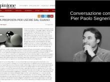 """#Covid19 - Liberi a...casa! """"Una proposta per uscire dal guano"""" Conversazione con Pier Paolo Segneri"""