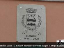 Scopertura della targa - Celebrazione del Bicentenario della fondazione del Comune di Bianchi (Cs)
