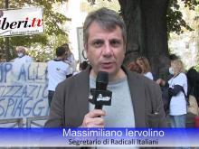 Massimiliano Iervolino, Segretario di Radicali Italiani - Sit-in del Coordinamento Nazionale Mare Libero