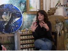 Alice Pasquini (Alicé) nel suo studio romano di San Lorenzo intervistata da Pierluigi Amen