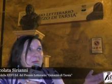 """Immacolata Sirianni, vincitrice della XVII ed. del Premio letterario """"Galeazzo di Tarsia"""""""