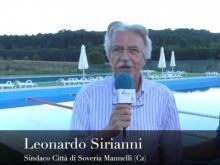 Leonardo Sirianni, Sindaco di Soveria Mannelli (Cz) - Apertura Piscina Intercomunale.