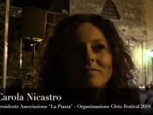 """Carola Nicastro, Presidente dell'Associazione """"La Piazza"""" - Cleto Festival 2018. Cleto (Cs)."""