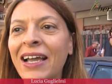 Lucia Guglielmi - Ostia - Stazione Lido Nord: Flash mob contro la cancellazione dei volti dal murale