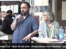 Open Air Art 2021 - Momenti della presentazione dell'Anno Dantesco