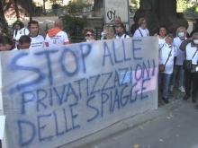 Sit-in del Coordinamento Nazionale Mare Libero - Piazza Cairoli a Roma