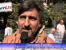 Gennaro Ferrillo, Coordinamento Flegreo Mare Libero - Sit-in del Coordinamento Nazionale Mare Libero