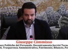 Giuseppe Còmmisso - Politiche del Personale, Decentramento, Servizi Tecnologici, Regolamenti, Trasparenza Amministrativa, Patrimonio, Bilancio, Polizia Locale