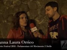 Anna Laura Orrico, Parlamentare M5S. Cleto Festival 2018, Cleto (Cs).