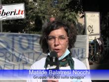 Matilde Balatresi Nocchi, In 500 sulla battigia (Ms) Sit-in del Coordinamento Nazionale Mare Libero
