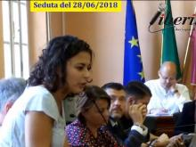 Margherita Welyam - Seduta del Consiglio municipale RM X del 28/06/2018