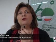 Marina Marino - Giornata internazionale contro la violenza sulle donne 2018 – Coordinamento Donne e Giovani CISL