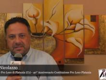 Intervista a Paolo Nicolazzo, Presidente Pro Loco di Platania - 40° della Costituzione Pro Loco