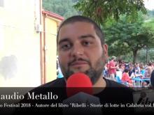 """Claudio Metallo autore del libro """"Ribelli"""" - Cleto Festival 2018, Cleto (Cs)."""