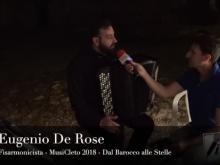 Intervista a Eugenio De Rose, fisarmonicista - MusiCleto 2018, Cleto (Cs).