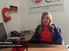 Nausica Sbarra - Coordinamento donne CISL Calabria.Giornata internaz. contro la violenza sulle donne 2018. Coord. Donne e Giovani CISL - Nausica Sbarra