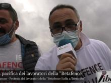 Protesta pacifica dei lavoratori della Betafence Italia a Tortoreto - Giro d'Italia 2020