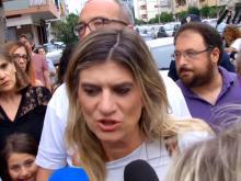 Federica Angeli  - Passeggiata della legalità a Ostia - 14 giugno 2018