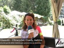 Paola Gianotti sulla ciclovia dei Parchi della Calabria per promuovere la sicurezza