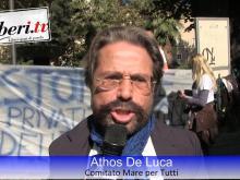 Athos De Luca, Comitato Mare per Tutti - Sit-in del Coordinamento Nazionale Mare Libero