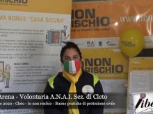 """""""Io non rischio"""" -  A.N.A. I.  Sezione di Cleto - Interviste"""