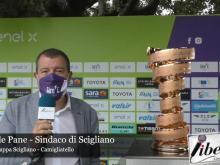 Raffaele Pane, vicino al trofeo - Giro E 4° Tappa: Scigliano - Camigliatello