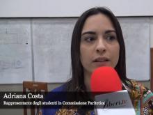 Adriana Costa, rappresentante degli studenti in Commissione paritetica