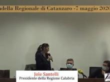 Conferenza stampa di Jole Santelli, Presidente della Regione Calabria - Catanzaro, 7 maggio 2020