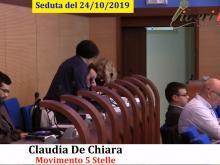 Claudia De Chiara (M5S) - Seduta del Consiglio Municipale Roma VII del 24/10/2019