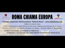 Intervista a Carlo Stasolla, Presidente dell'Associazione 21 Luglio - ROMA CHIAMA EUROPA -