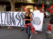 Manifestazione di CasaPound per le elezioni immediate a Ostia