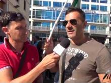 Manifestazione 18 Luglio 2016 Slp Cisl - Interviste di strada e intervento Enzo Cufari (SLP Cisl Calabria)