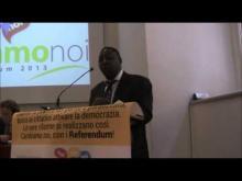 """Intervento di Dabre Yacouba all'Assemblea Referendaria """"CambiamoNoi - Referendum 2013"""" 13/05/01"""