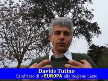 """""""+Europa + libertà"""" Davide Tutino candidato + Europa alla Regione Lazio"""