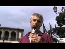 Davide Tutino alla manifestazione #MARINODIMETTITI