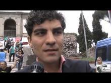 Enrico Stefàno (M5S) alla manifestazione #MARINODIMETTITI